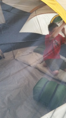 First time in the tent