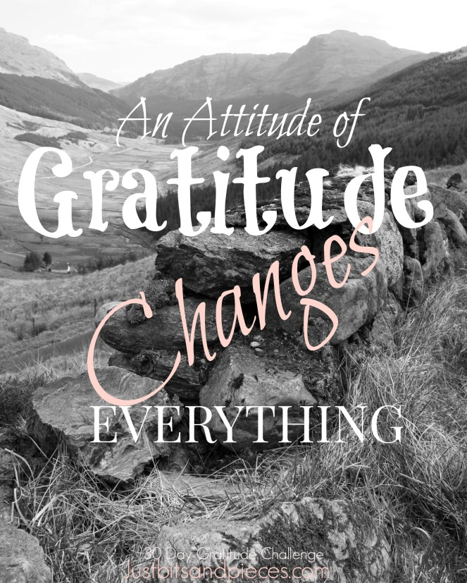 An Attitude of Gratitude changes everything