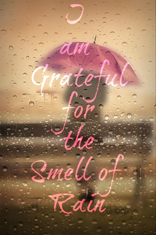 I am grateful for the smell of rain