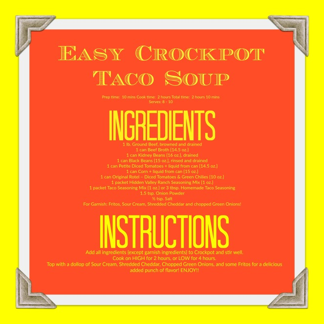 Easy Crock-pot Taco Soup